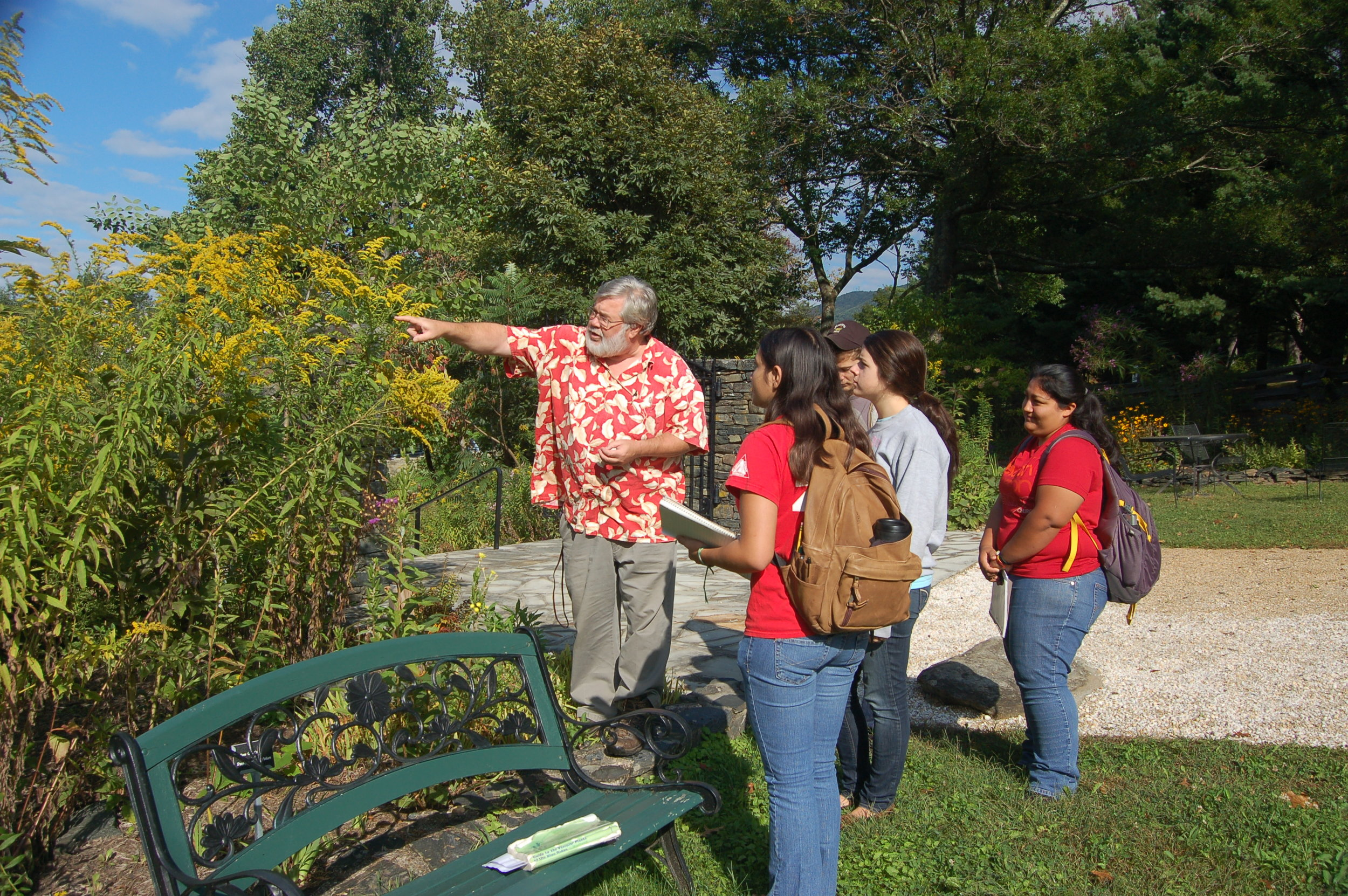ASU students visit Gardens