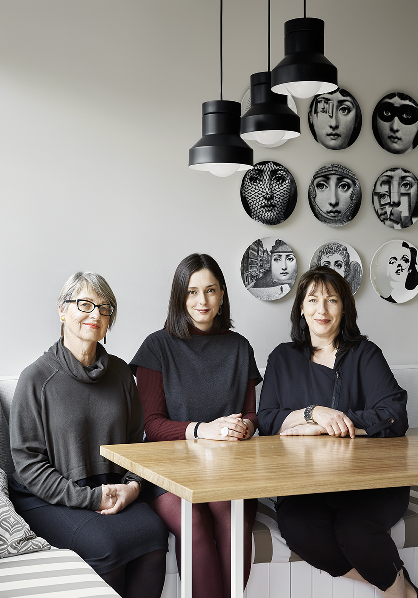 Vizma (client), Jean (Winter Architecture), Karen (Karen Butler Interior Design) .  Photography by Tess Kelly