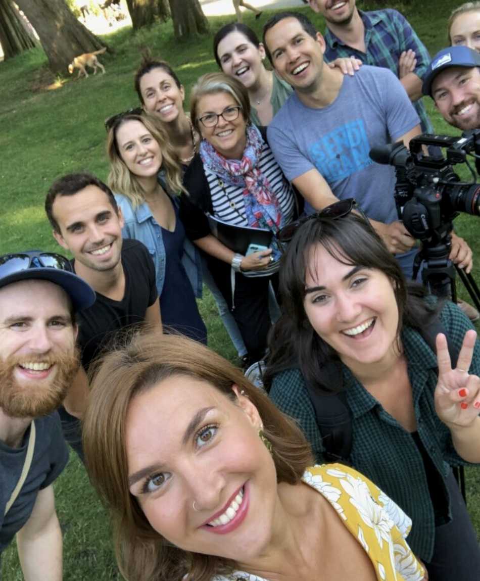 crew shoot, selfie style