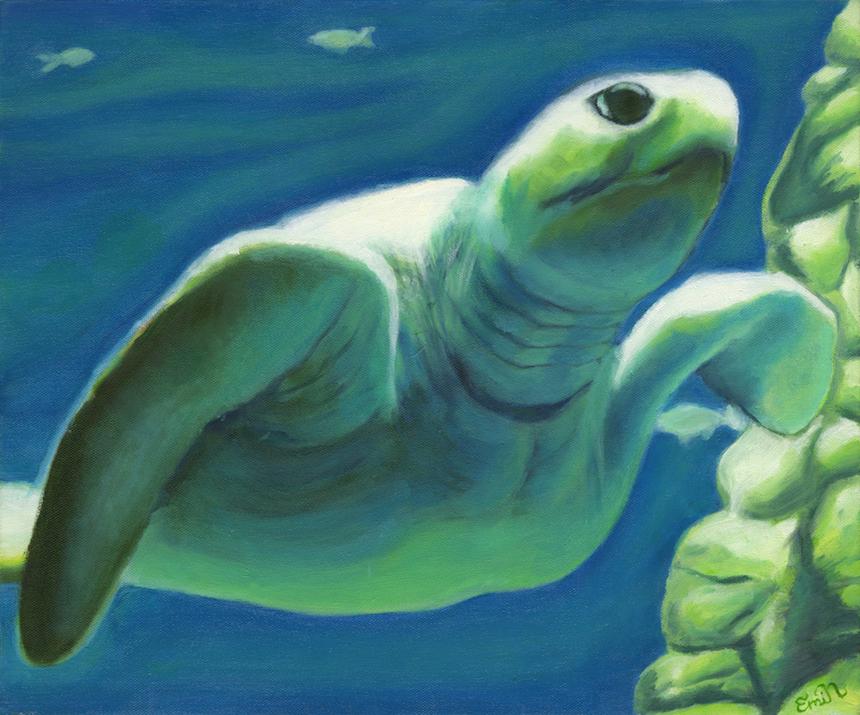 Title: Sea Turtle  WxH: 70cm x 140cm  Year: 2015  Price: $600