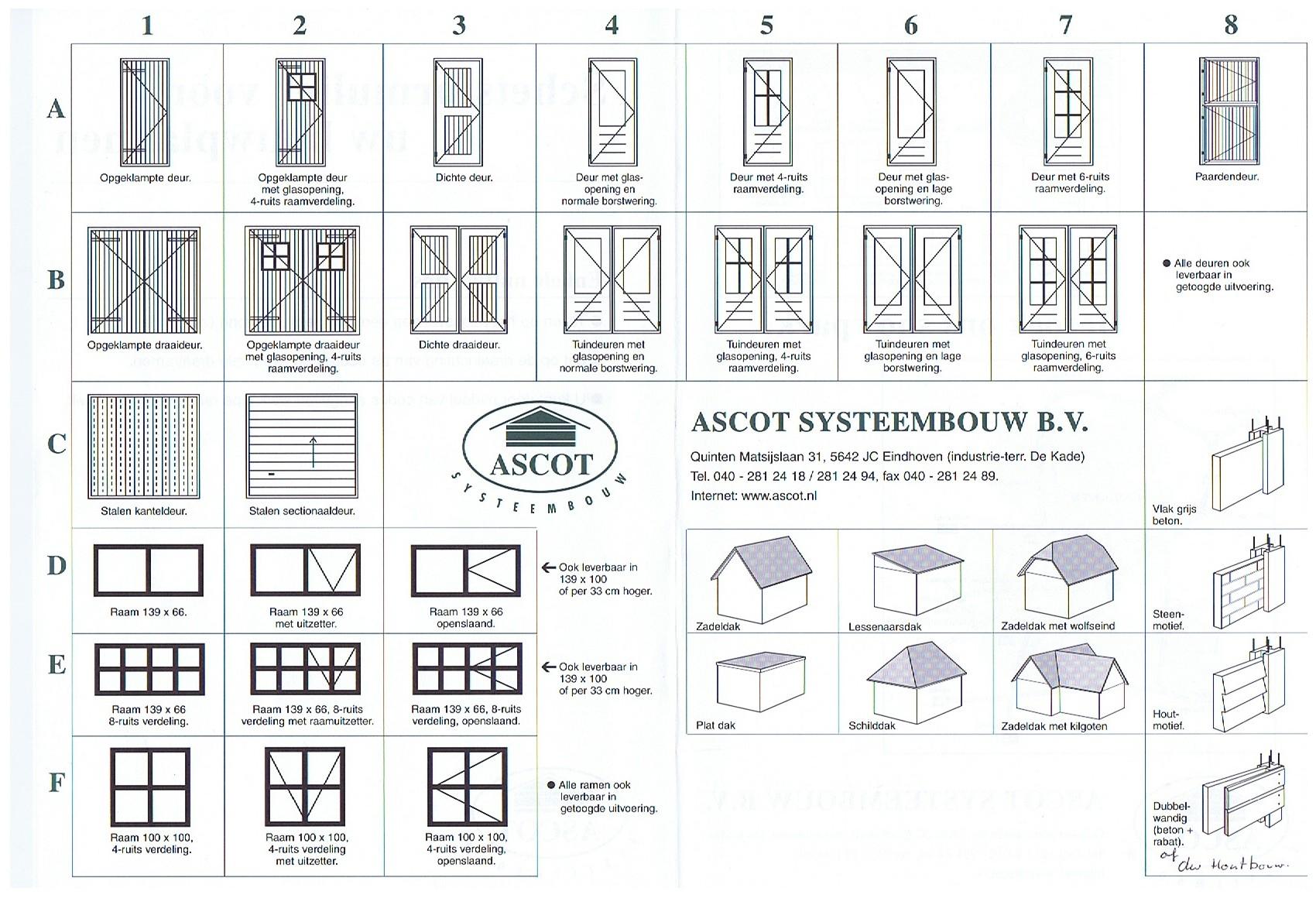 Ascot Systeembouw Overzicht