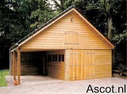 Garage met overkapping Ascot Systeembouw Nederland