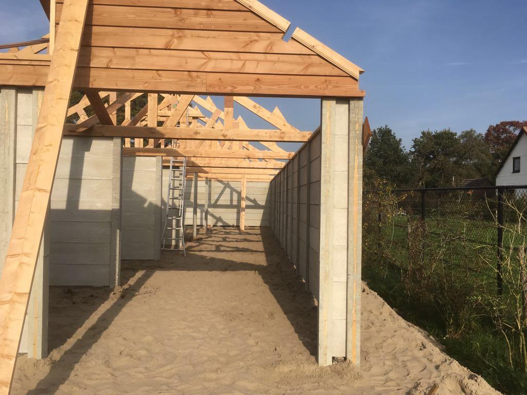 Bouwfase 2 tijdens bouwproject Ascot Systeembouw Nederland