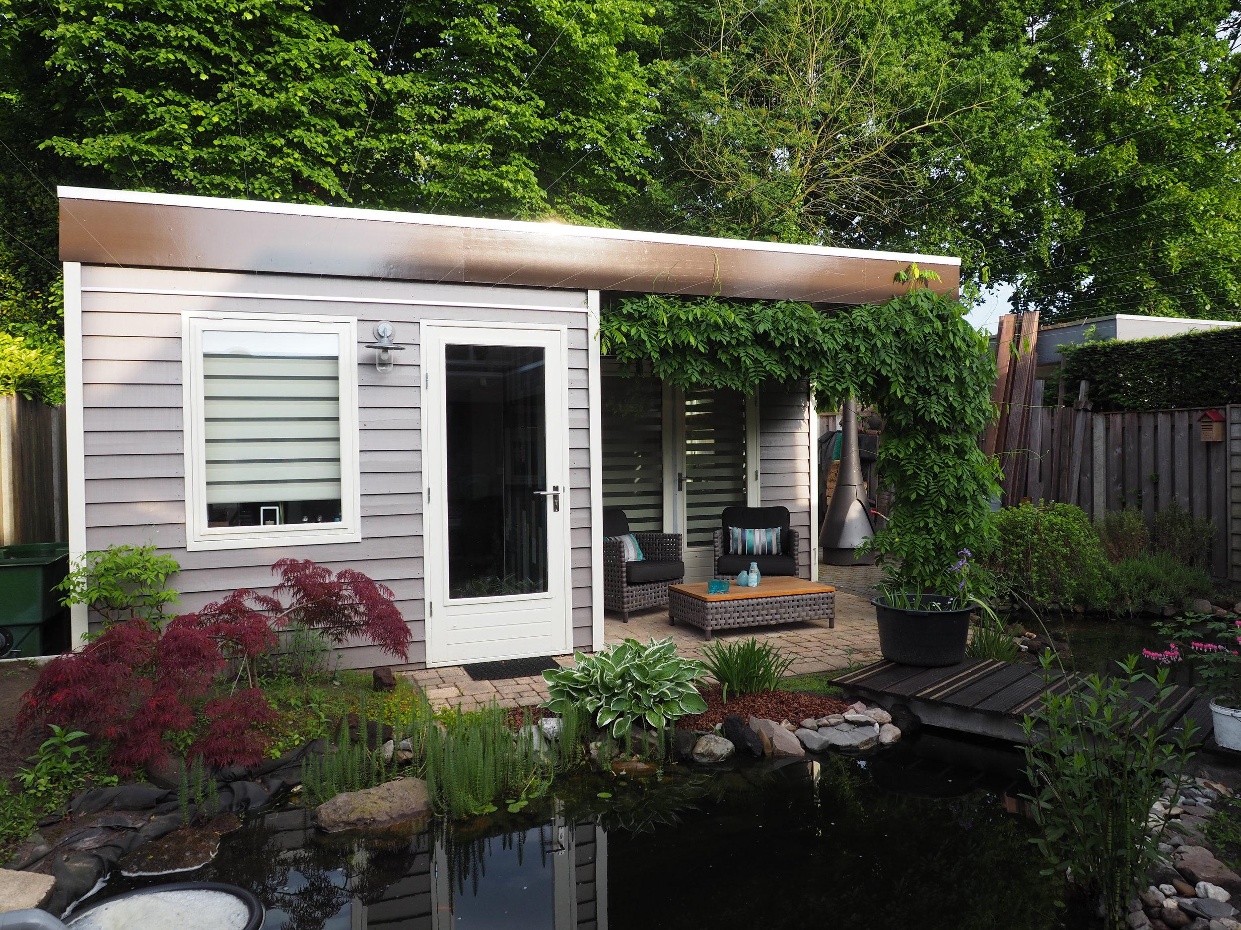 Kantoor aan huis met overkapping Ascot Systeembouw Nederland
