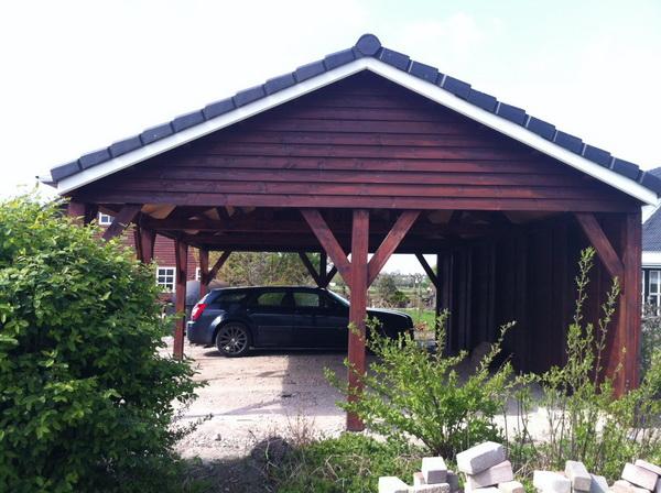 Luxe uitgevoerde carport Ascot Systeembouw Nederland