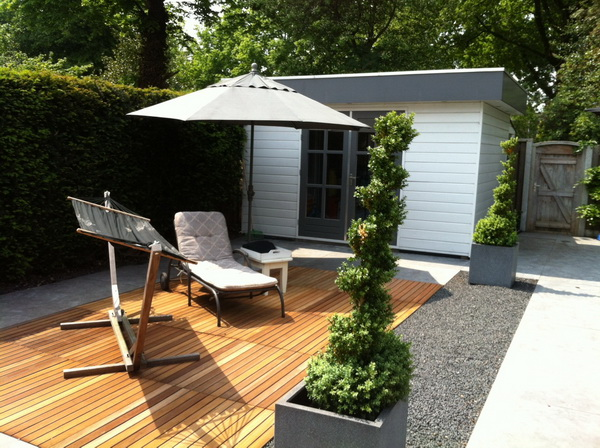 Modern gebouwd tuinhuis Ascot Systeembouw