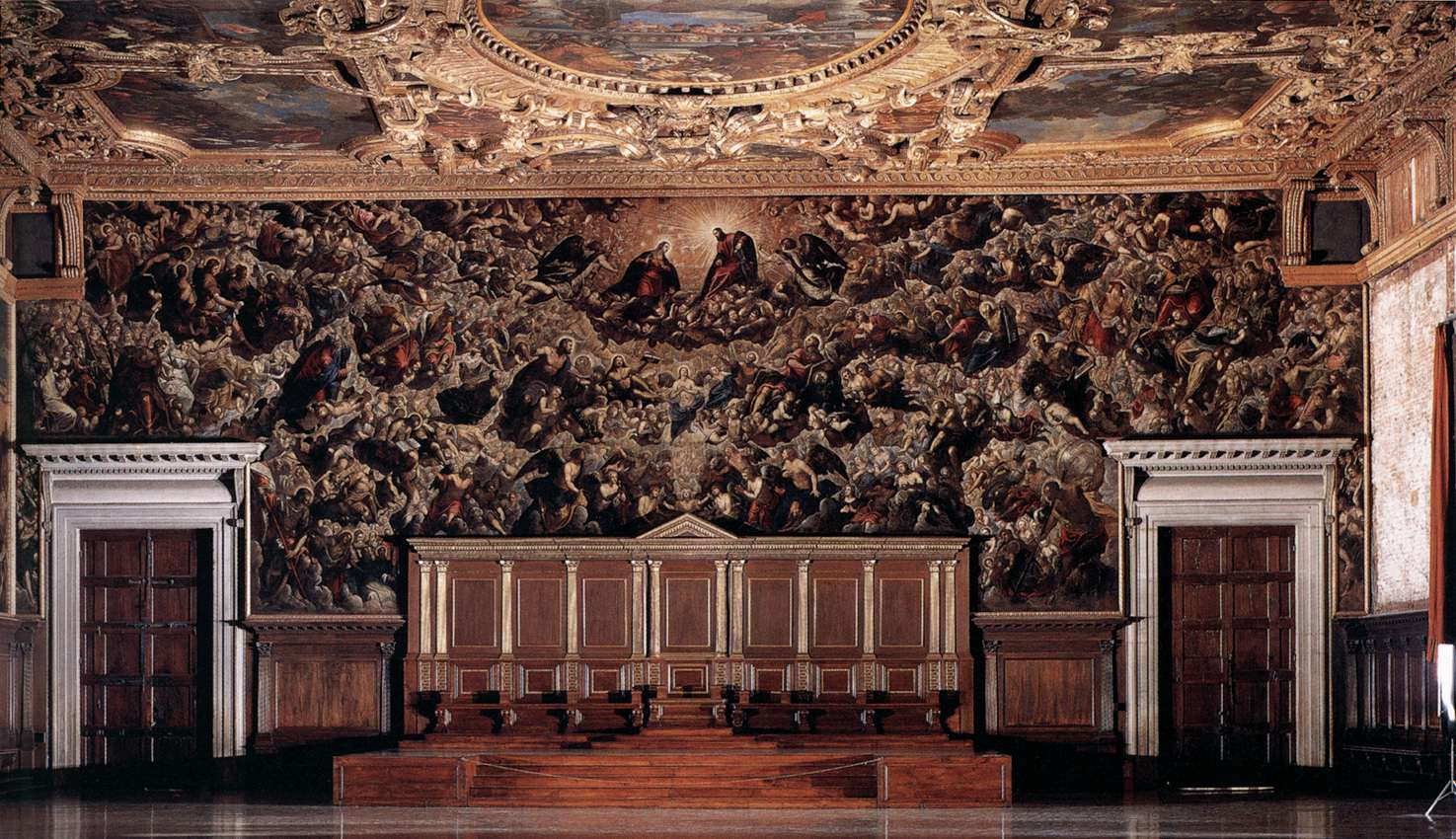 Il Paradiso, Tintoretto, main hall of the    Doge's Palace   ,    Venice