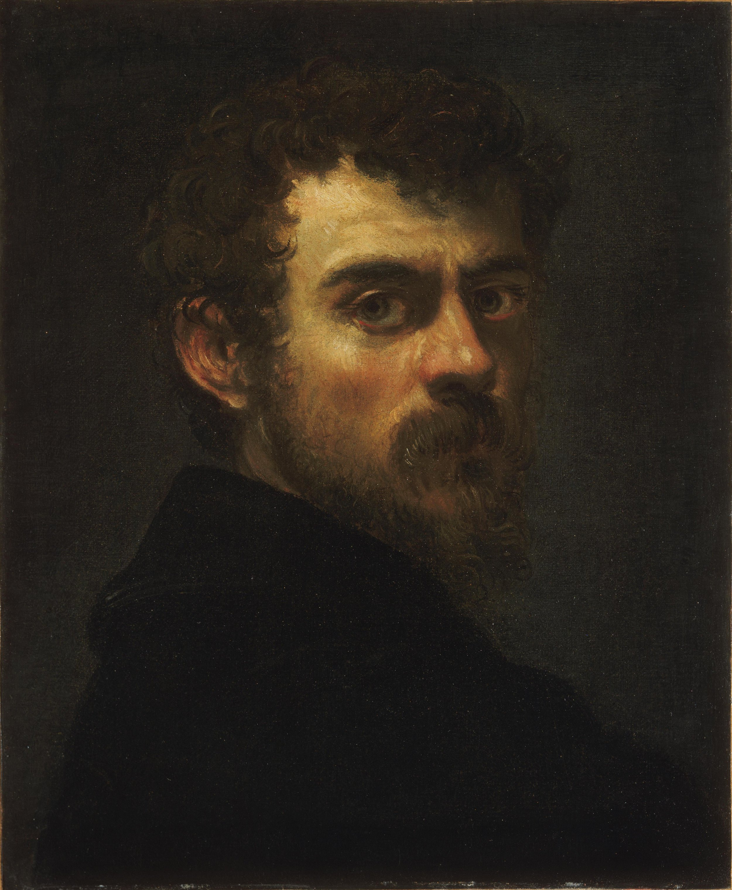 Self-Portrait, Tintoretto, Philadelphia Museum of Art, now on view at the National Gallery