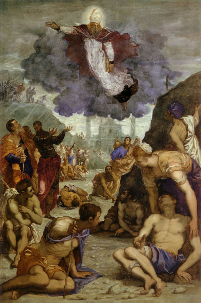 Saint Augustine Healing the Lame, Tintoretto, Vicenza Municipal Museum, now on view at the National Gallery of Art