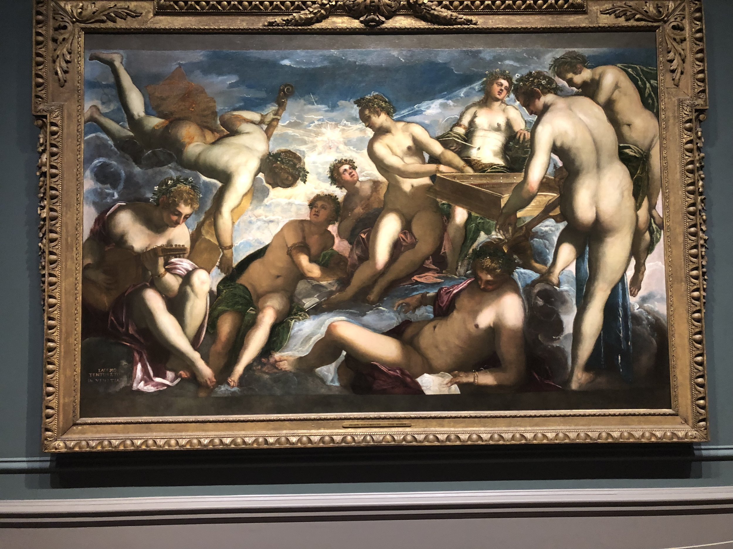 The Nine Muses, Tintoretto, The Royal Collection, London, now on view at the National Gallery of Art