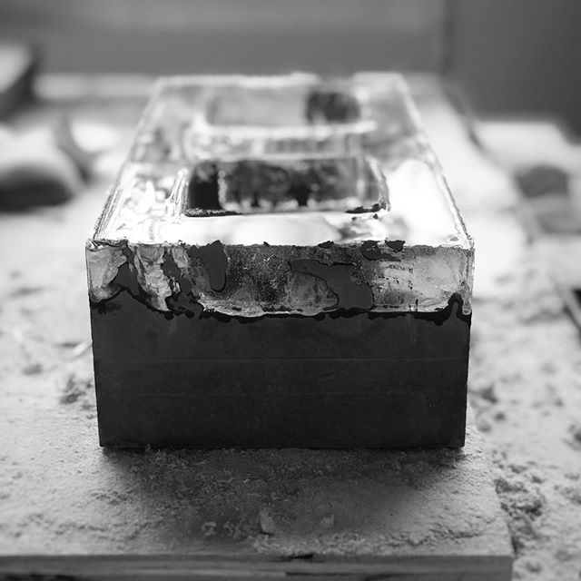 The joy of seeing my ideas come to life.  #3oddducks #smashingperspectives #concrete #concreteart #workinprogress #artinprogress #cement #resinconcrete #resin #art #artwork
