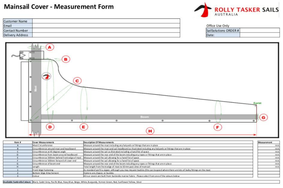 Mainsail Measurement Form