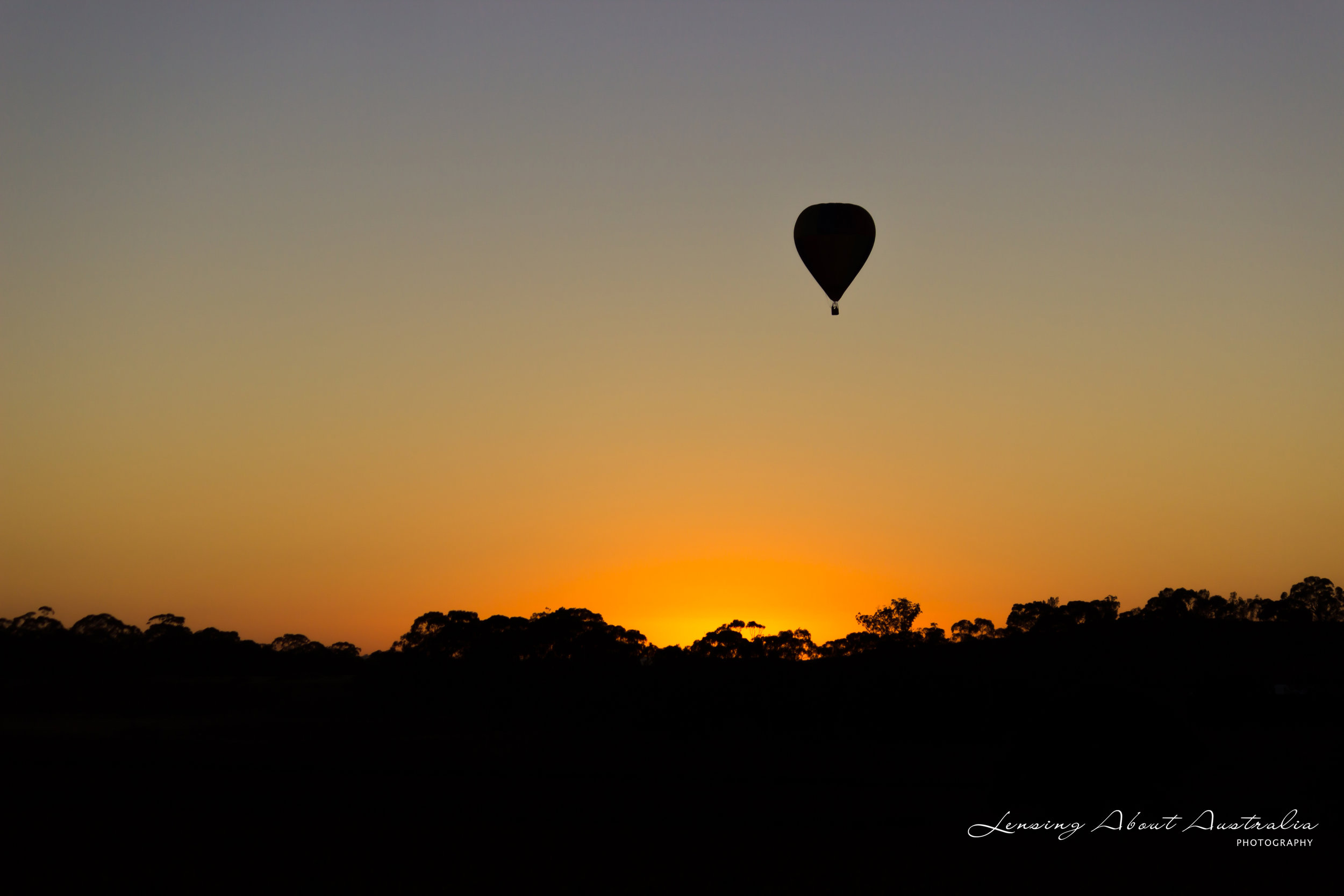 Hot Air Balloon Silhouette, Barossa Valley South Australia. https://lensingaboutaustralia.com
