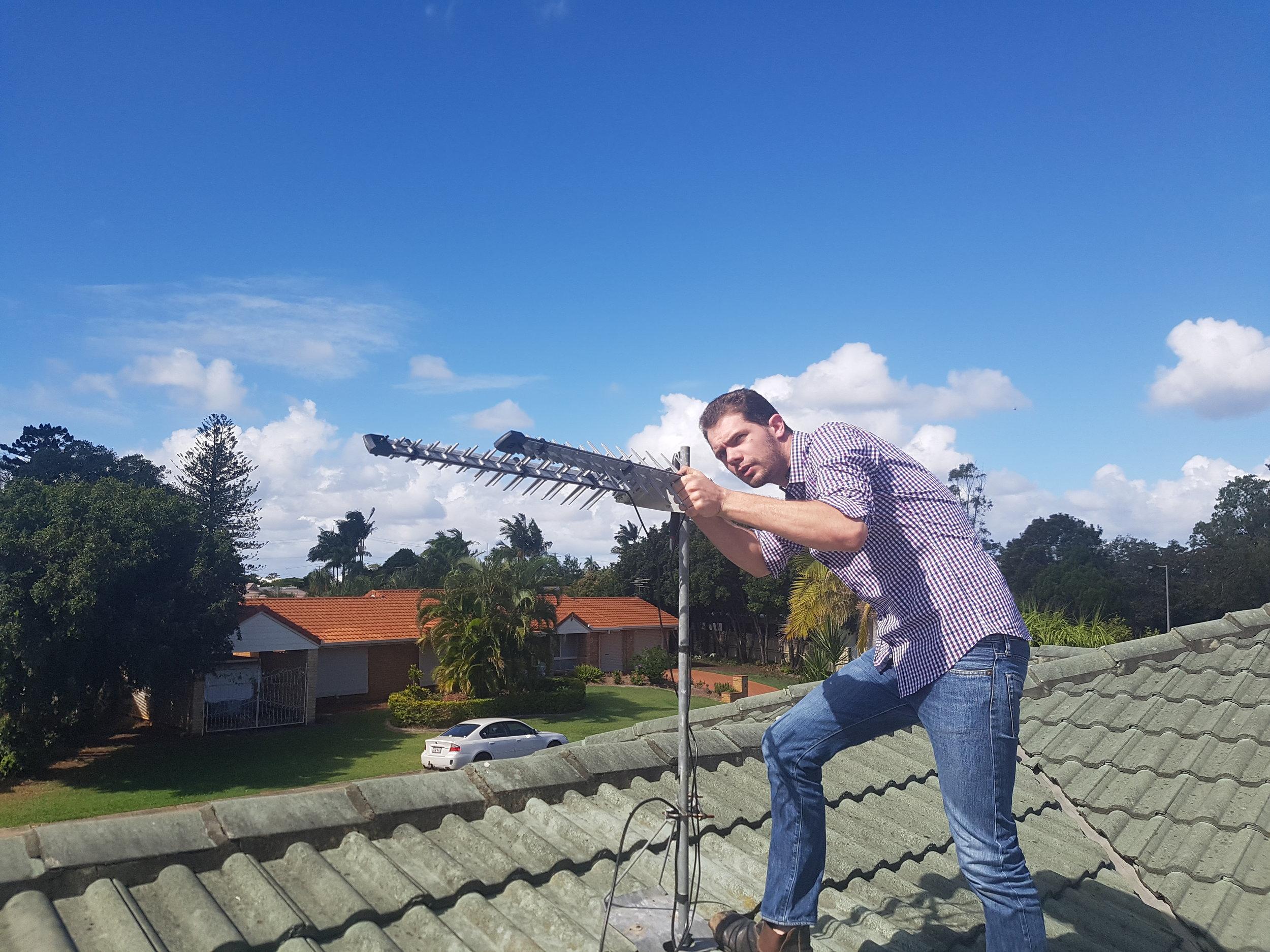 wireless internet roof setup