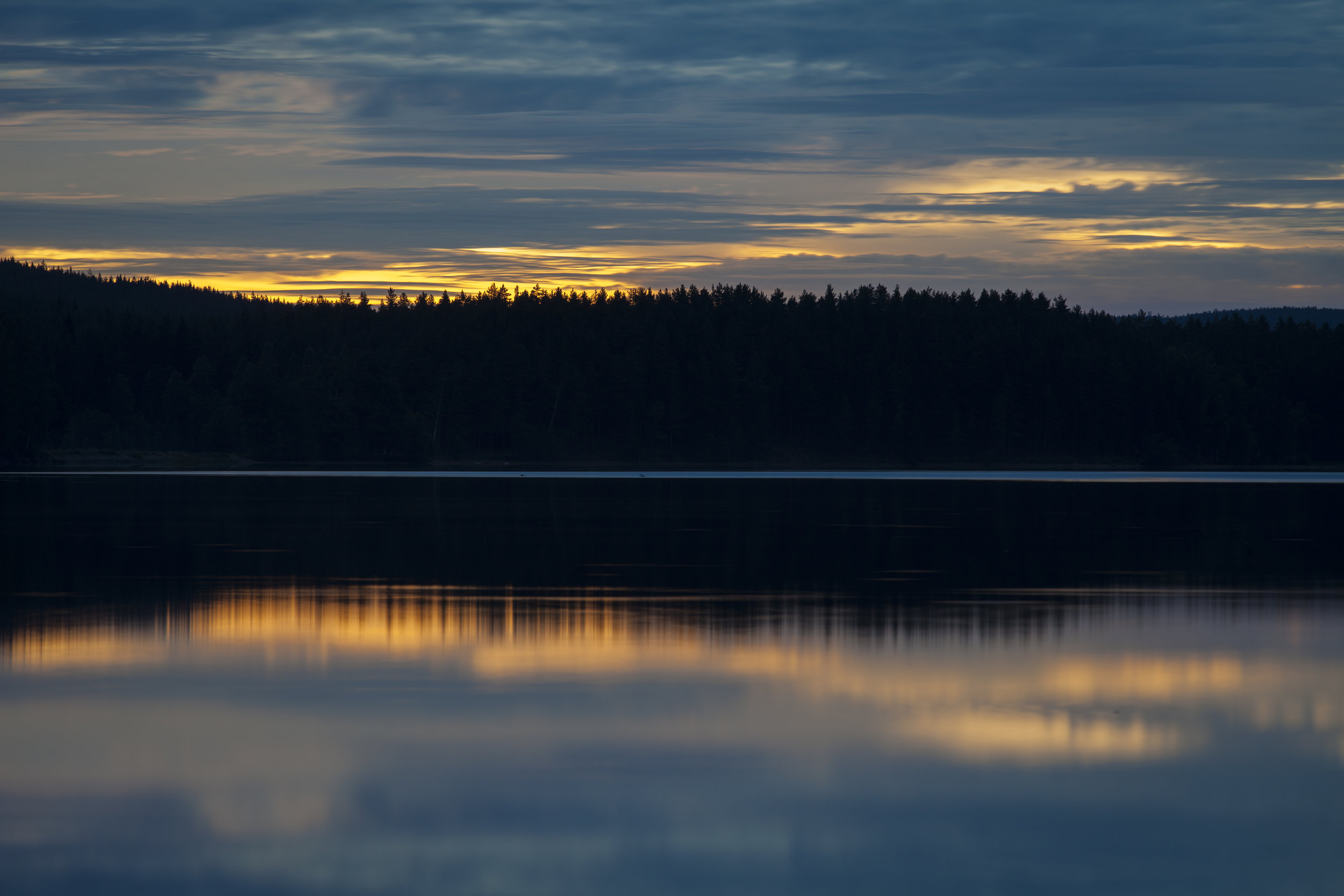 Silent lake in wolf territory. Photo: Marcus Westberg