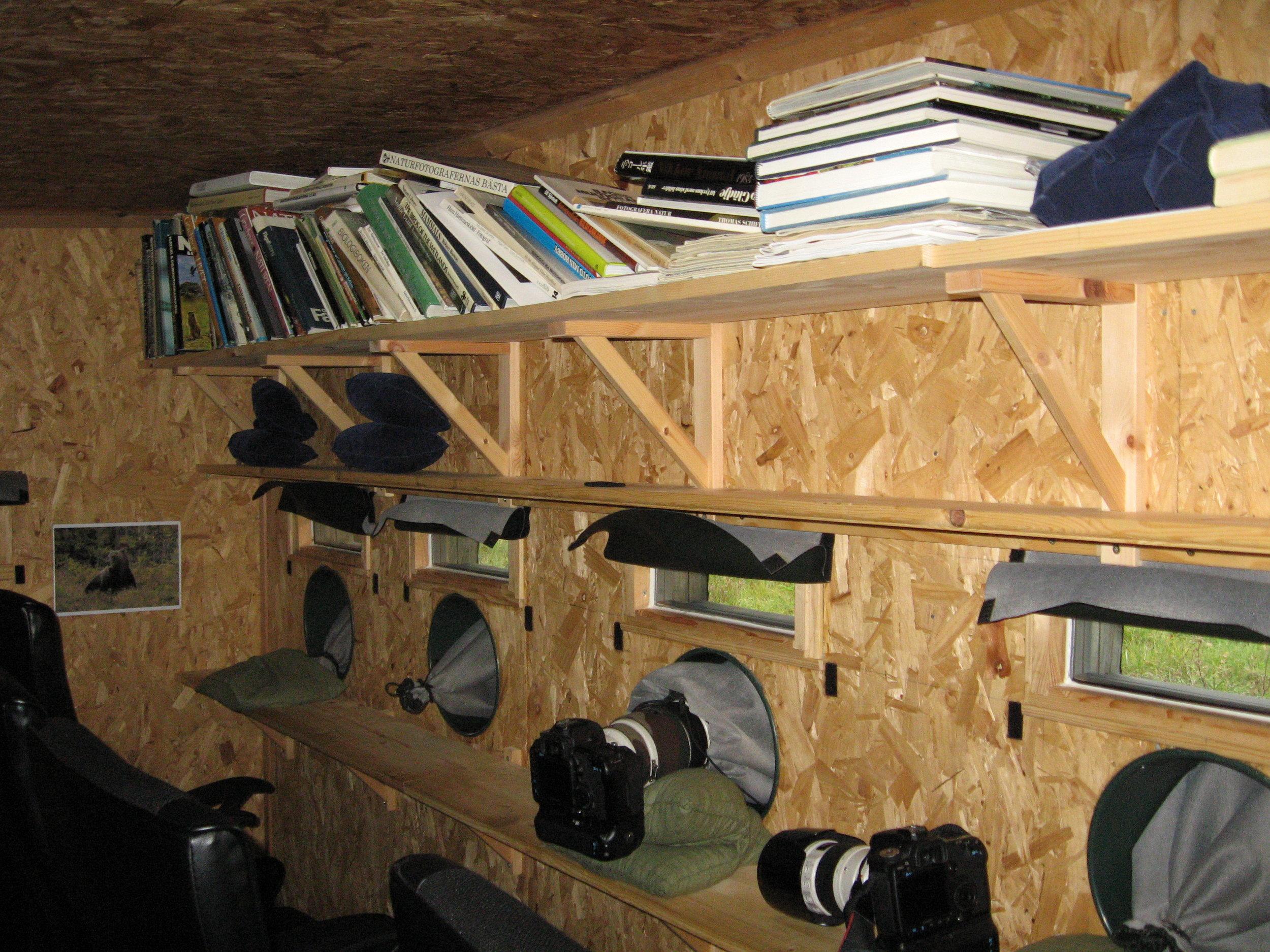 Photo cabin interior. Photo: Håkan Vargas