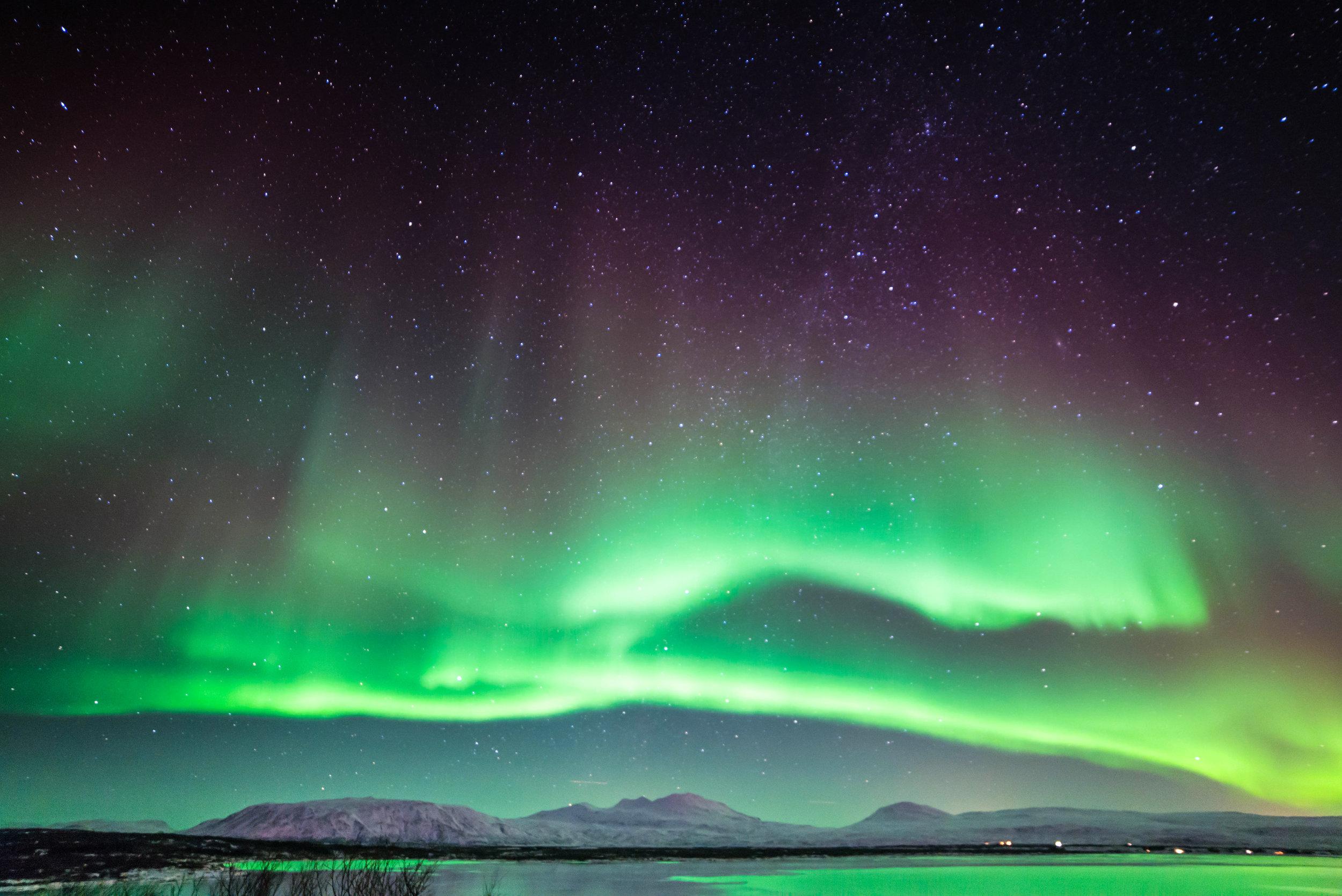 Green Northern lights