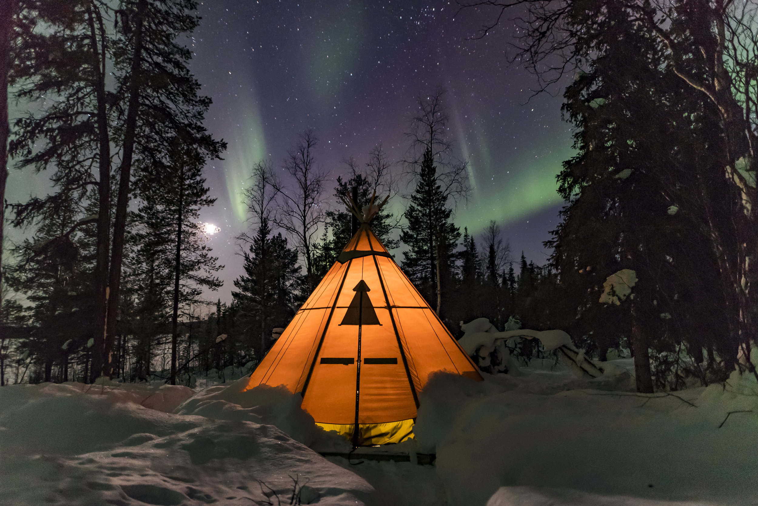 We stay here during our Northern Lights tours in Swedish Lapland. Photo: Lennart Pittja