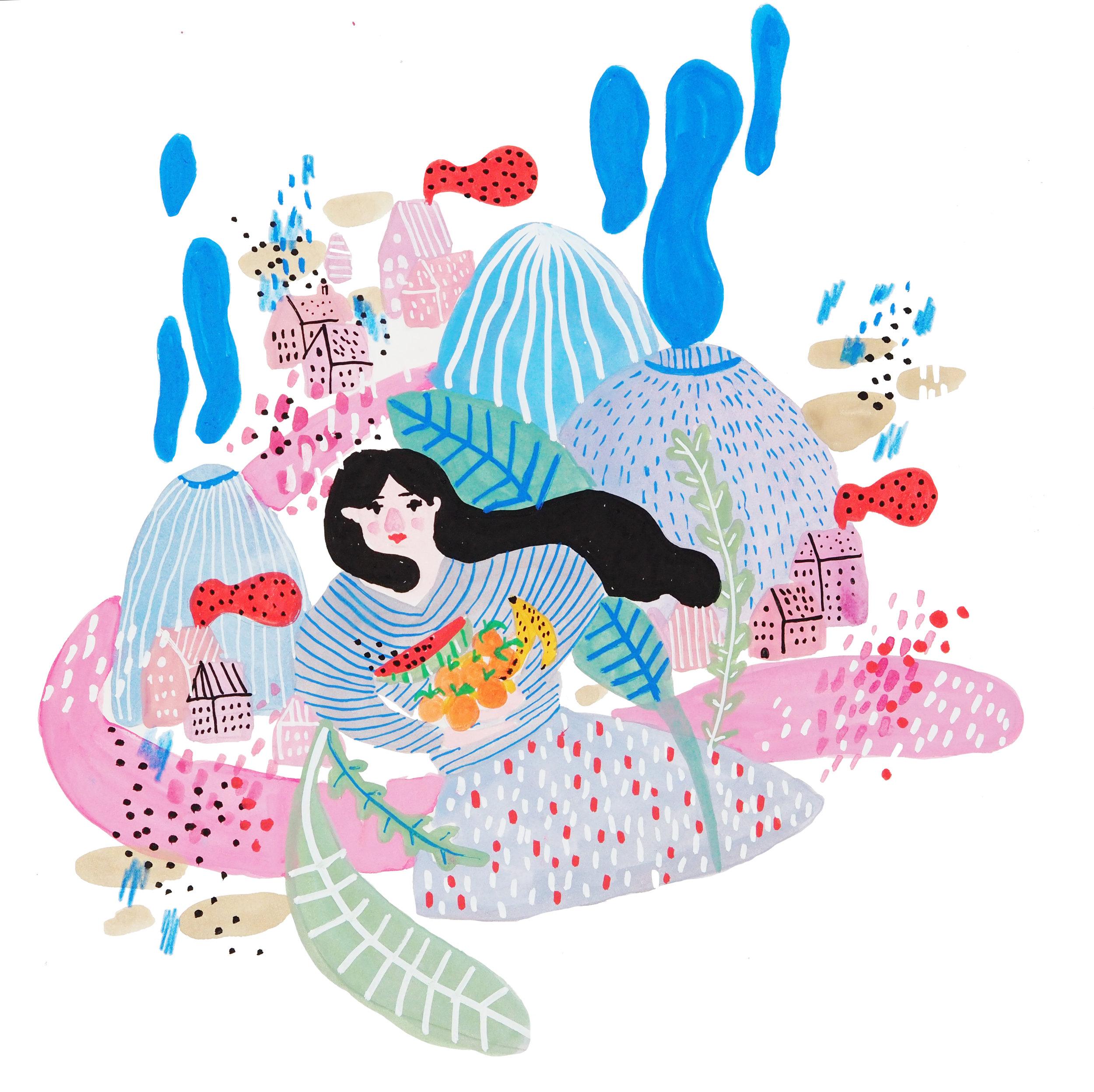 "Editorial Illustration series ""Home"""