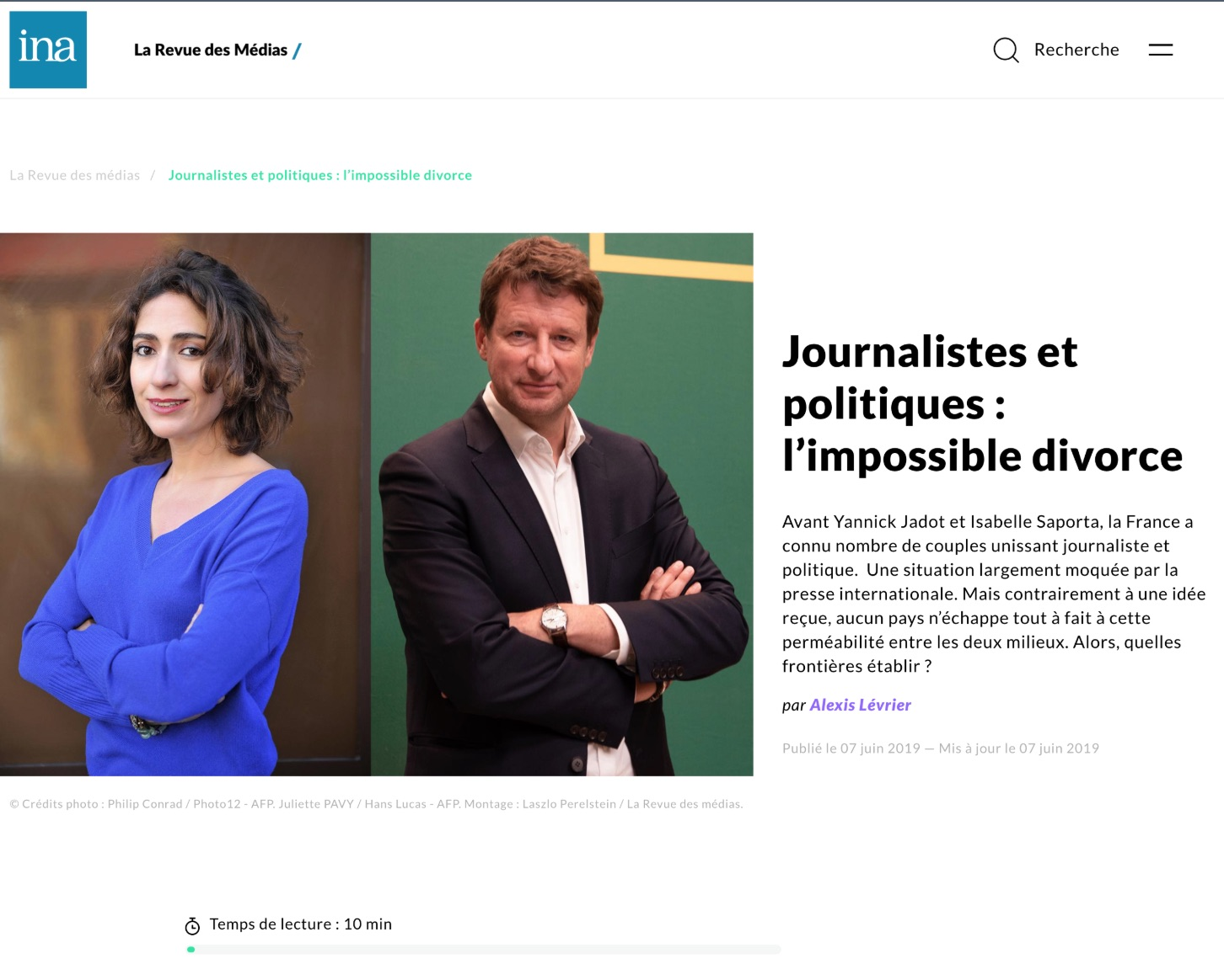 INA, La Revue des Médias, 17 Juin 2019