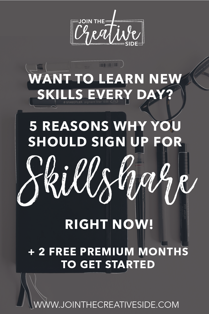 Are you looking for free, but yet valuable courses to improve your creative skills? Then you should definitely join Skillshare! Inside this blog post, I am going to talk about five reasons why you should join Skillshare, and I will give you 2 free months, so you can watch some great Skillshare courses for the upcoming 60 days. #skillshare #course #freecourse #learnnewskills #hobby #hobbiestotry #hobbyideas