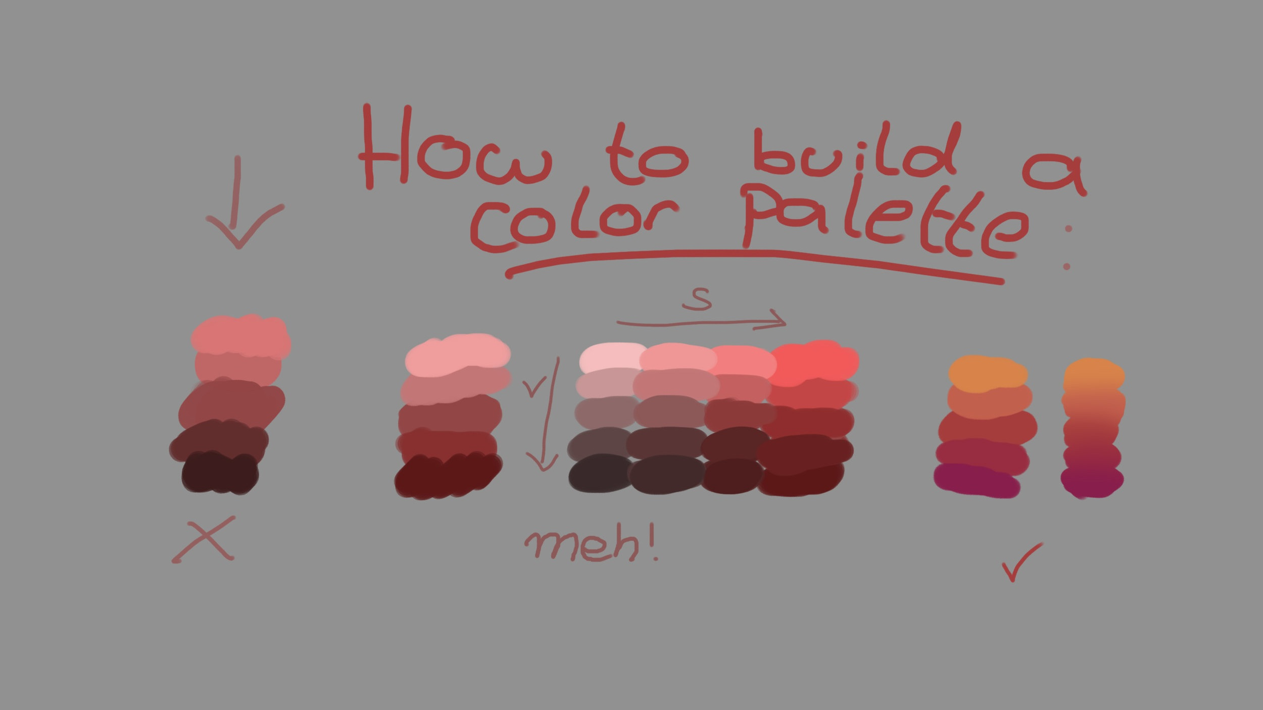 How to build a color palette | During this blog post, I am going to teach you how you can color your digital paintings like a pro in Adobe Photoshop.  When you are getting the hang of it, you can implement all of the techniques and strategies I am going to teach you in your upcoming digital paintings. This will make sure you will make faster and bigger progress, and your art will become more profitable #digitalpaintingtutorials #digitalpainting #photoshoptutorials #coloringtutorial #digitalartwork