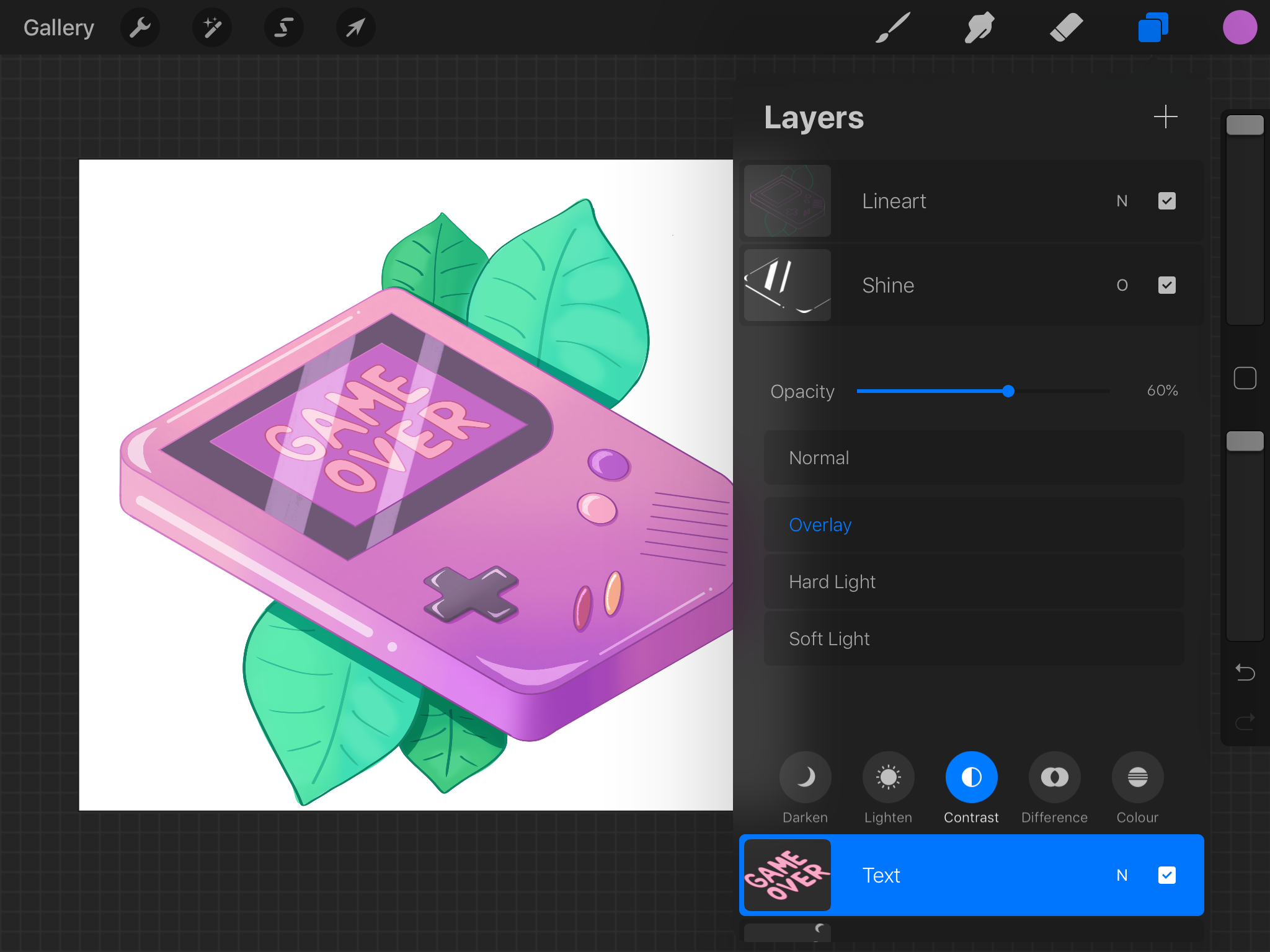 Layer modes in Procreate