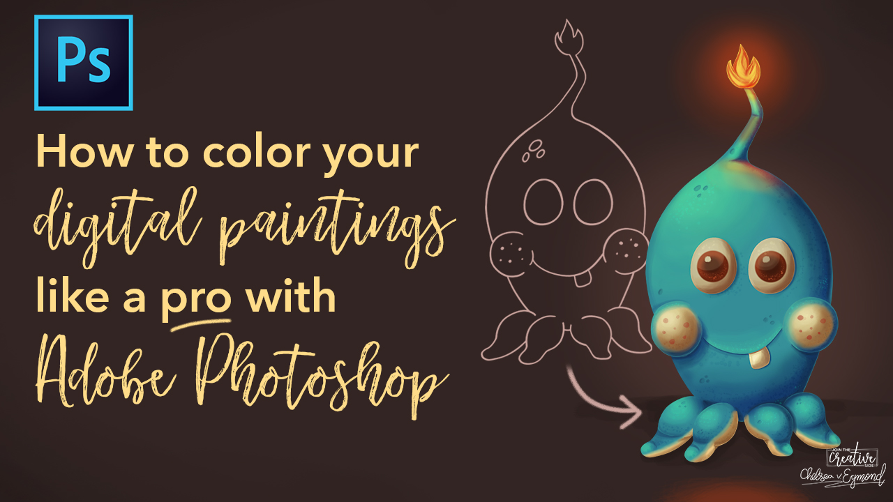 Skillshare | How to color your digital paintings like a pro in Adobe Photoshop.jpg