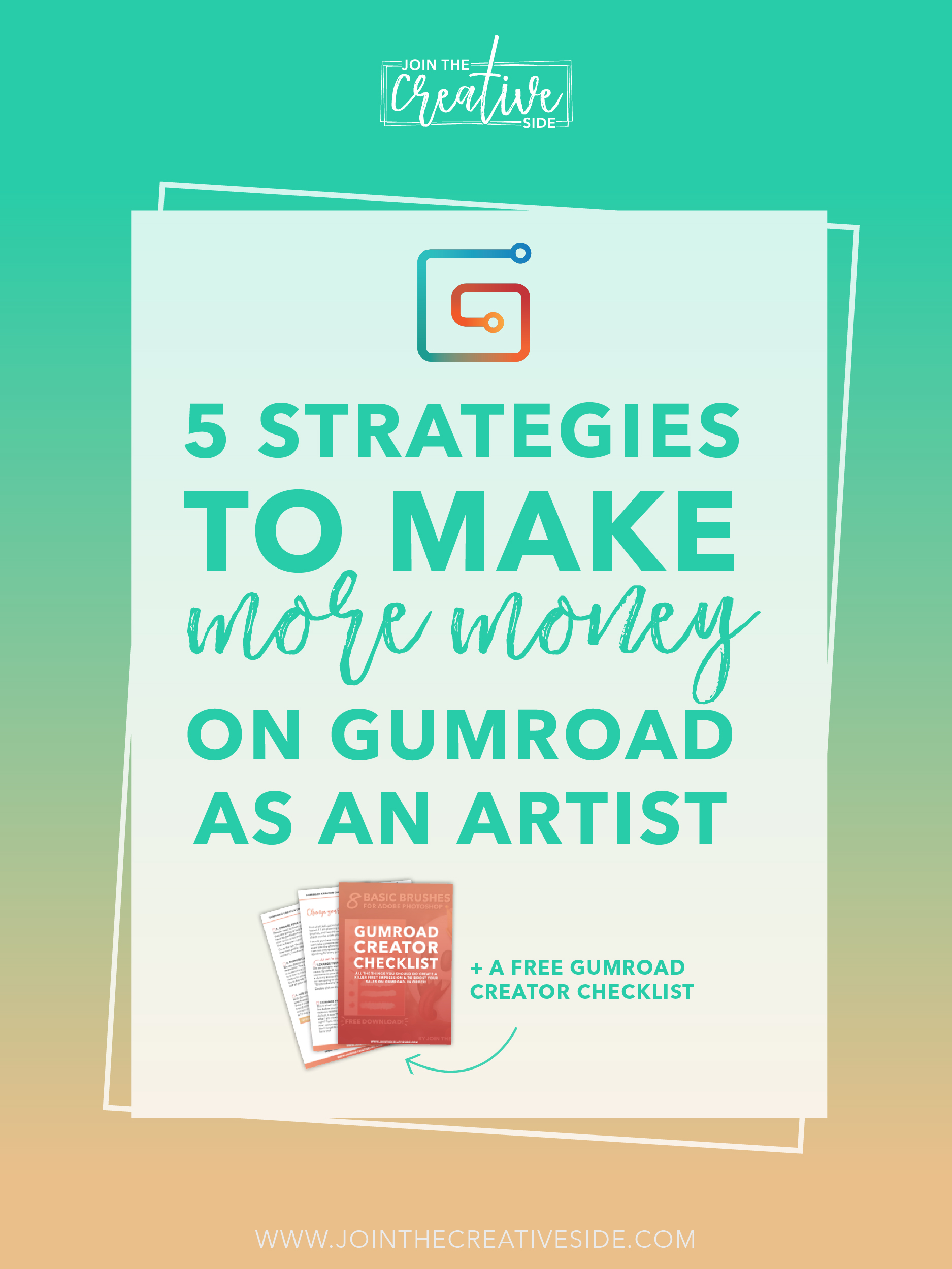 So, you have opened your Gumroad shop, and you aren't making the sales you deserve? I totally get you. Your hand-made Photoshop or Procreate brushes (or any other digital products) deserve it to make more money. That's why I am going to give you 5 tips to make money on Gumroad as an artist, so you can finally earn some income with your creative career. #Gumroad #digitalart #photoshopbrushes #procreatebrushes #makemoneyartist #sellart
