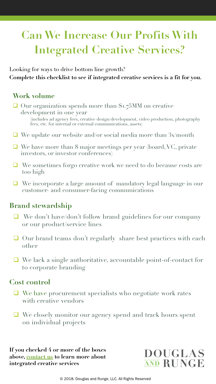 Check it - Integrated creative services make a lot of sense for many businesses. Are you one of them?