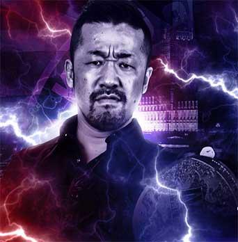 IWGP Junior Heavyweight Tag Team Champion Yoshinobu Kanemaru