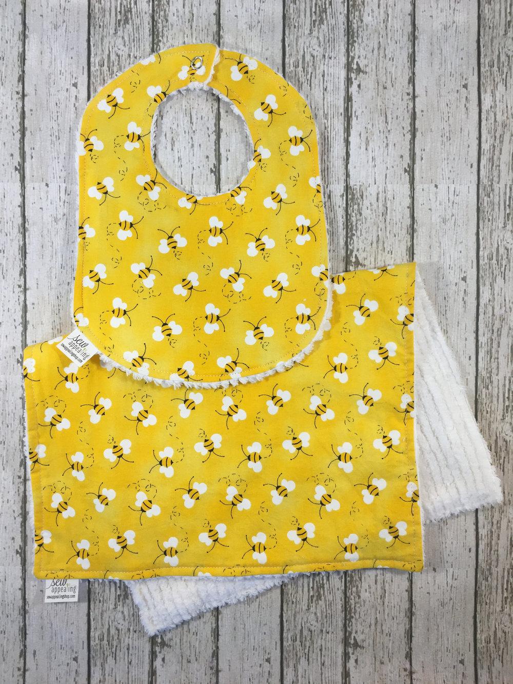 Toddler Bib Reversible Bib Gift for Toddler Baby Bib Lady Bug Bibi for Girl