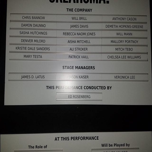 Congratulations to our Eddie who made his Broadway debut last night conducting the Tony Award winning musical @oklahomabway!!!!!!! #proudbigsister #TheGreenOrbsInvadeBroadway #hardworkpaysoff