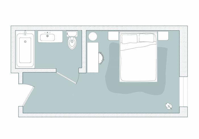 First Floor West Floor Plan