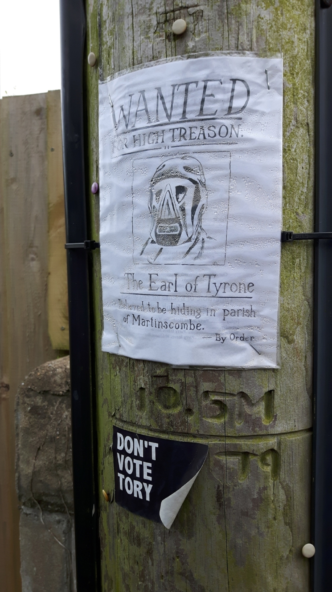 'Wanted' poster for the Earl of Rhone, Combe Martin