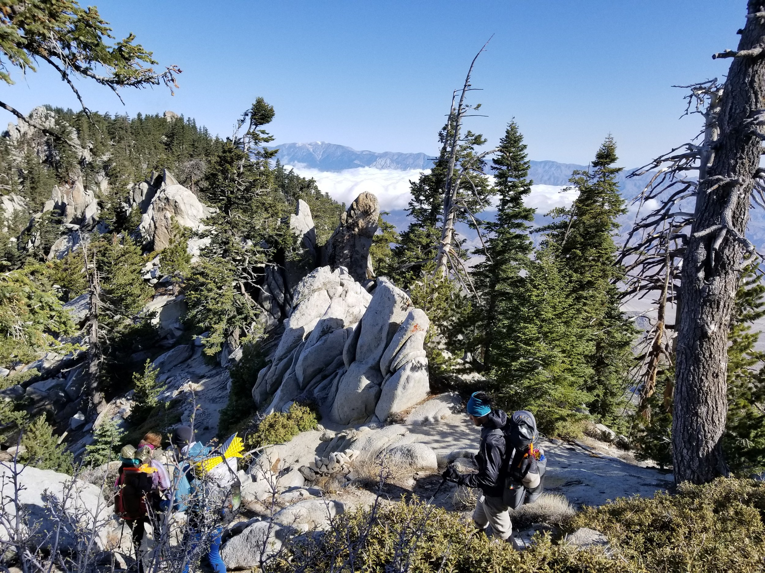 Descending off San Jacinto