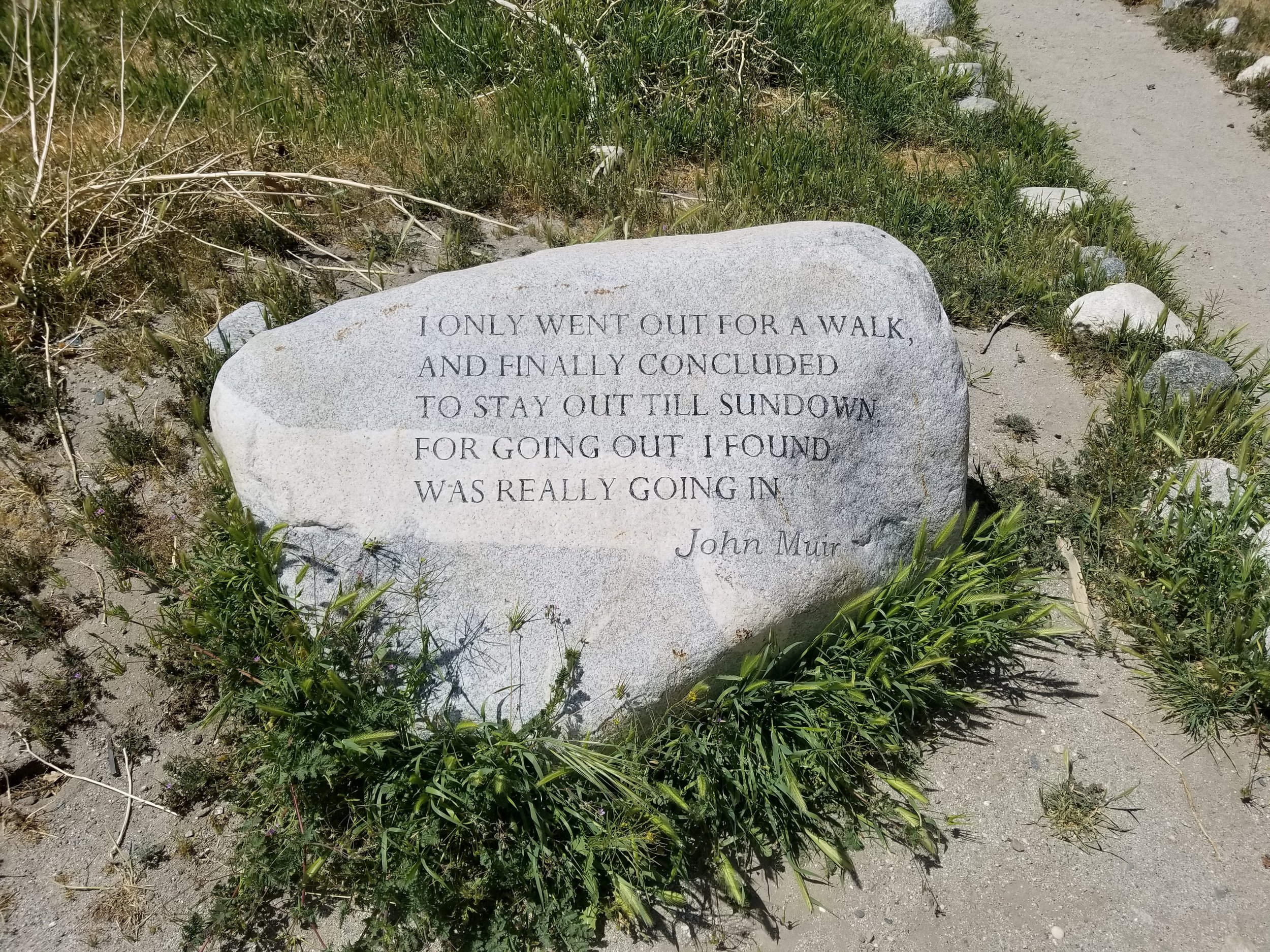 Very appropriate quote found at the Whitewater Preserve