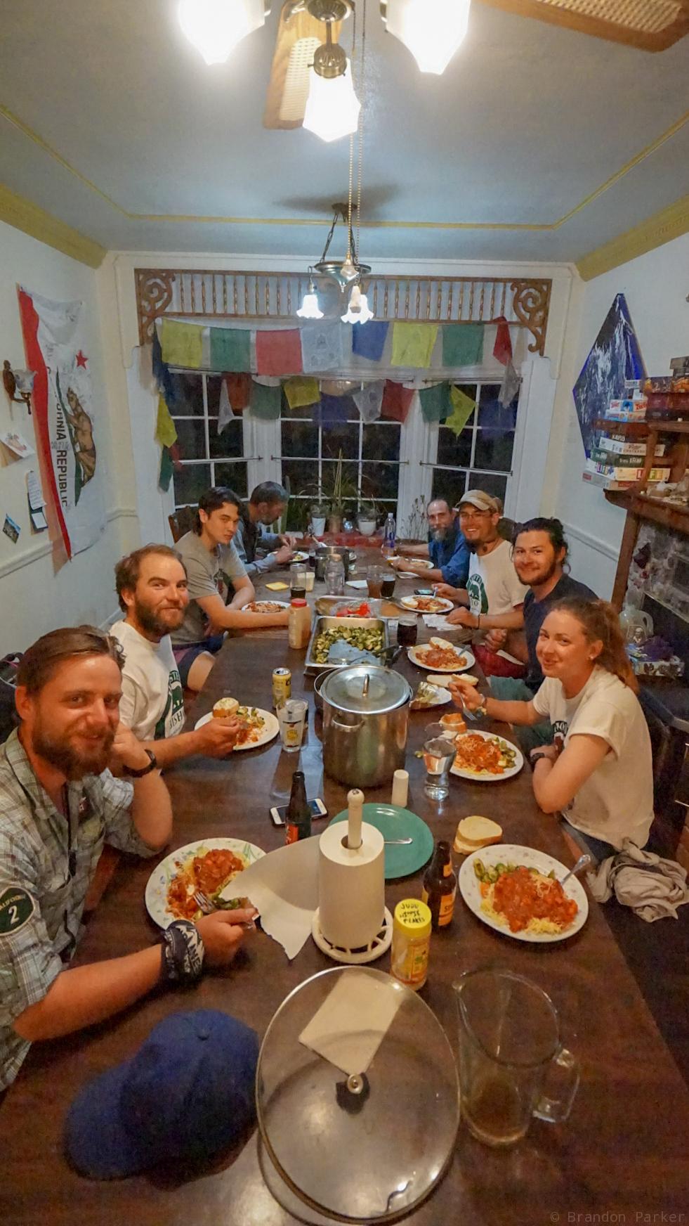 Hostel Family dinner
