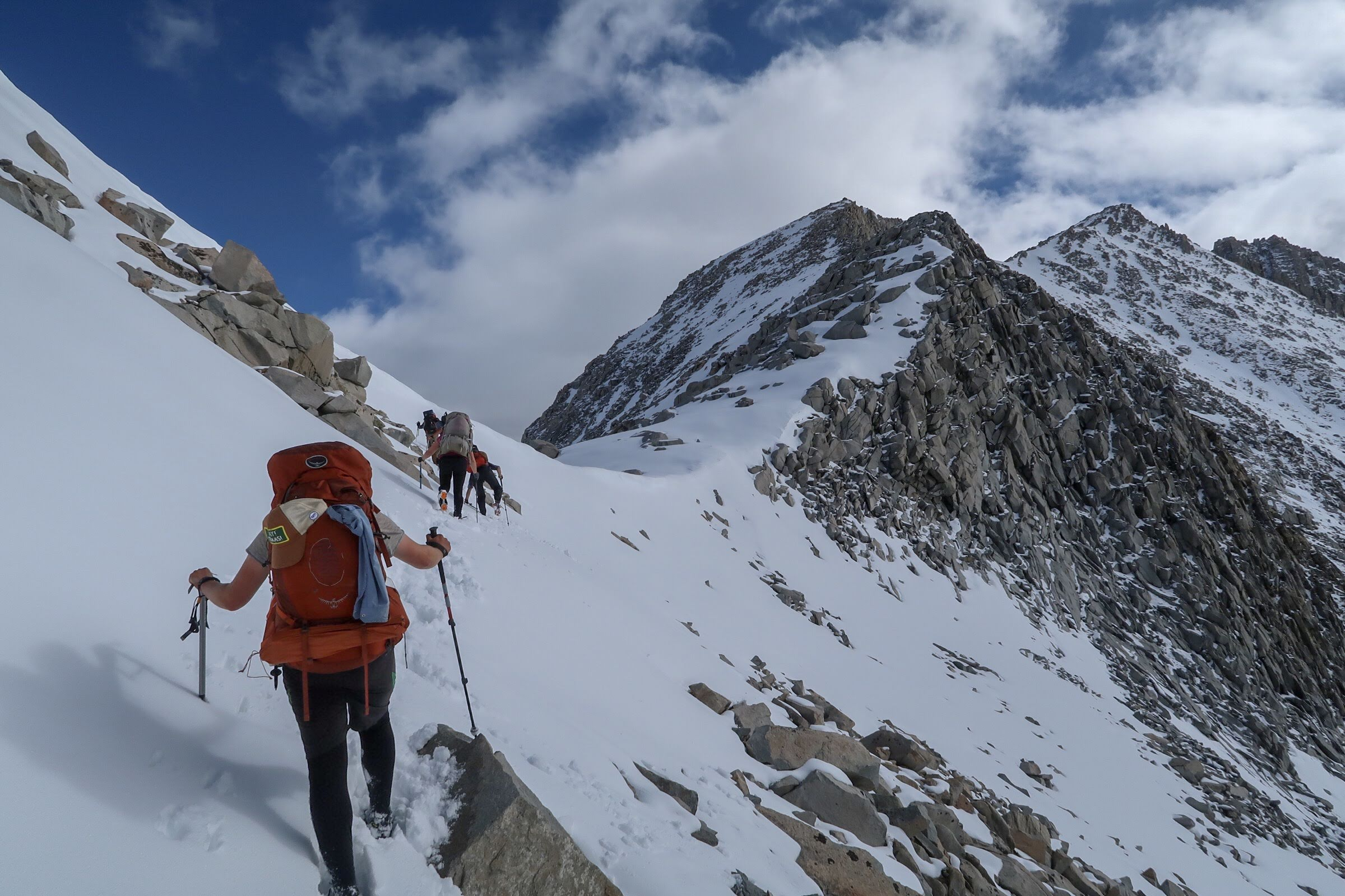 Me leading the way up Mather Pass