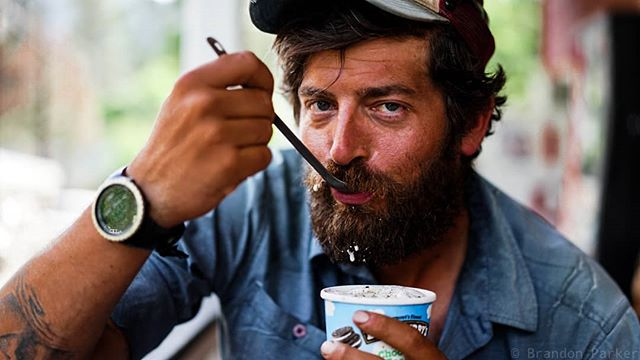 When you get to town you eat all the calories. Here's one of 2 pictures of me on my camera after 2650 miles. #icecreamlife #PCT #pct2018  #hikertrash #sonyalpha #sonya7ii #humansofthepct #portraitphotography