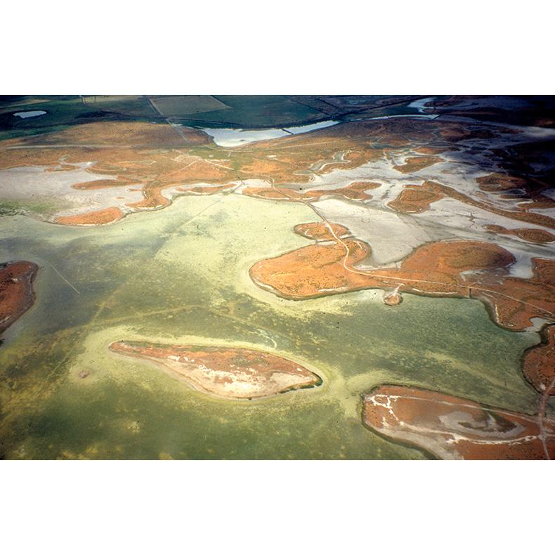#19 Near the Great Salt Lake, Utah,  2000, digital print on Hanhnemeule photo rag, original 35mm slide digitized (on an Imacon scanner), DIMENSIONS
