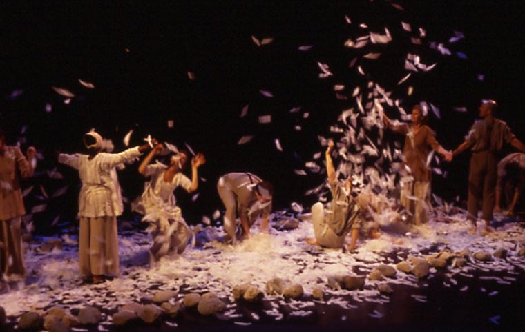 Current  Melli Hoppe and Susurrus, pilot project choreographed from materials gathered in  Turning the Tide , 2005, performed at Butler College, Indianapolis, IN