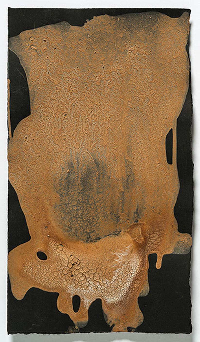 Genoa Frana   2014, egg tempera with found earth pigments