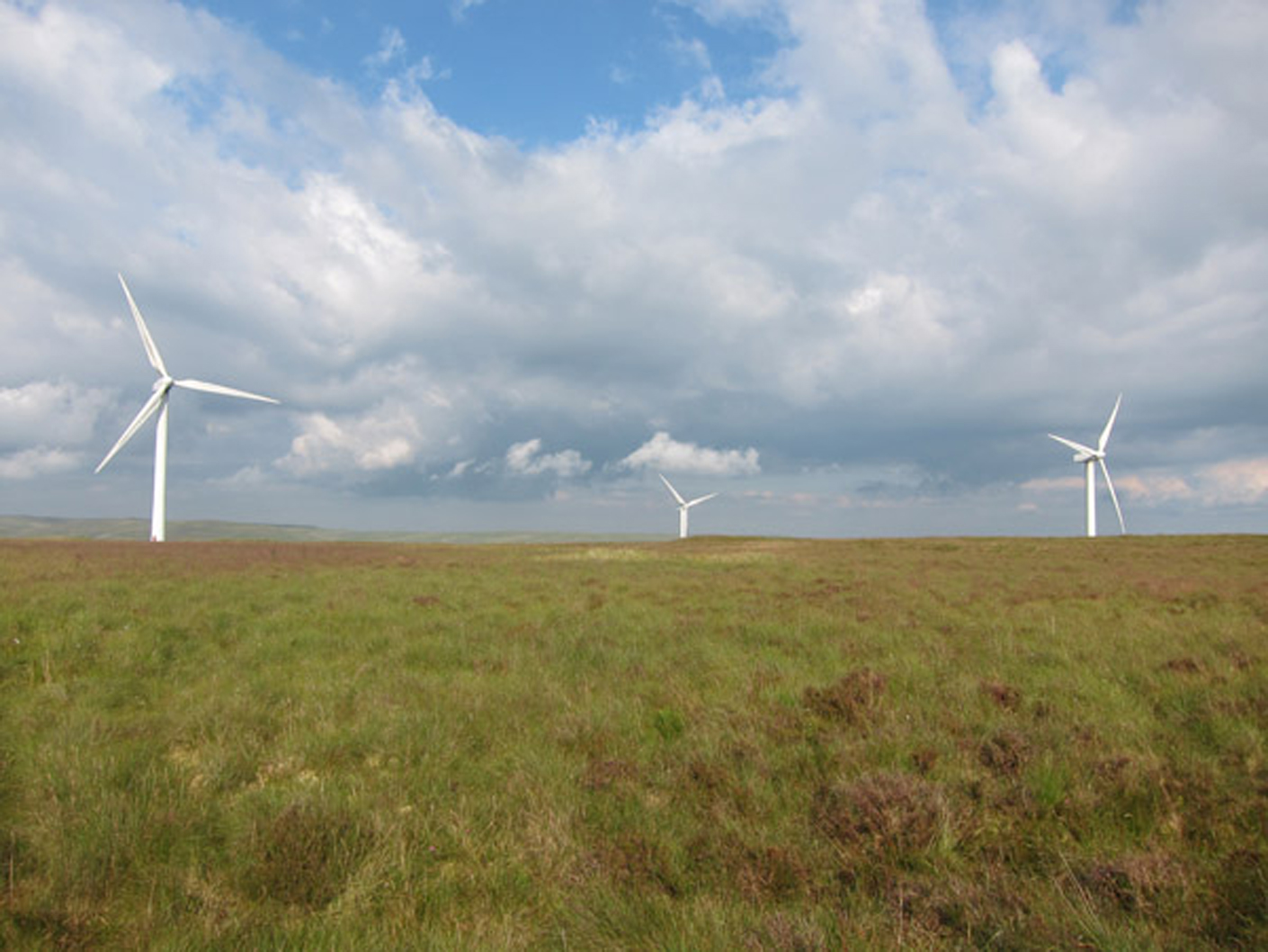The goal of the 20 mile hike, the wind turbine that was the subject of Jess Owens' film.