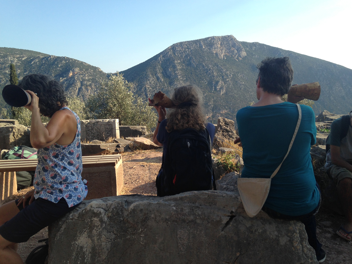 "Performing John Cage's 4'33"" at the site of the Tholos at Delphi"