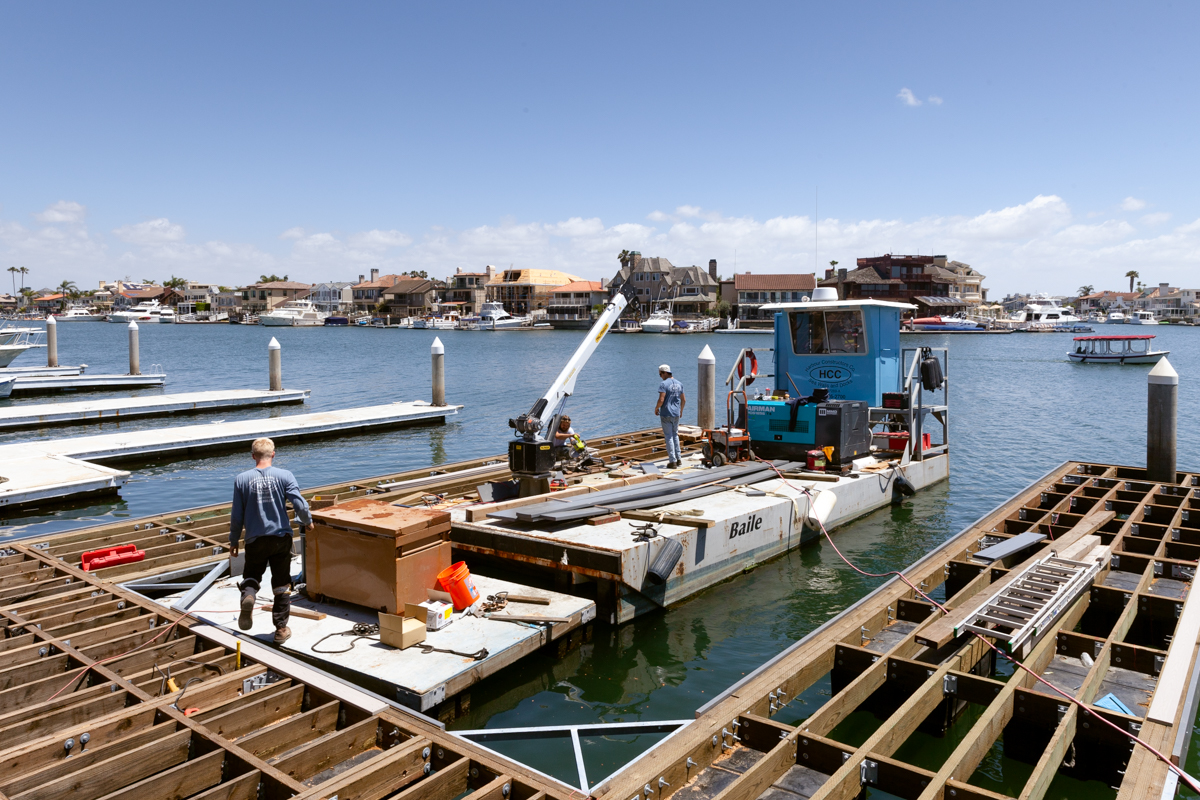 Dock Construction in Huntington Beach, California