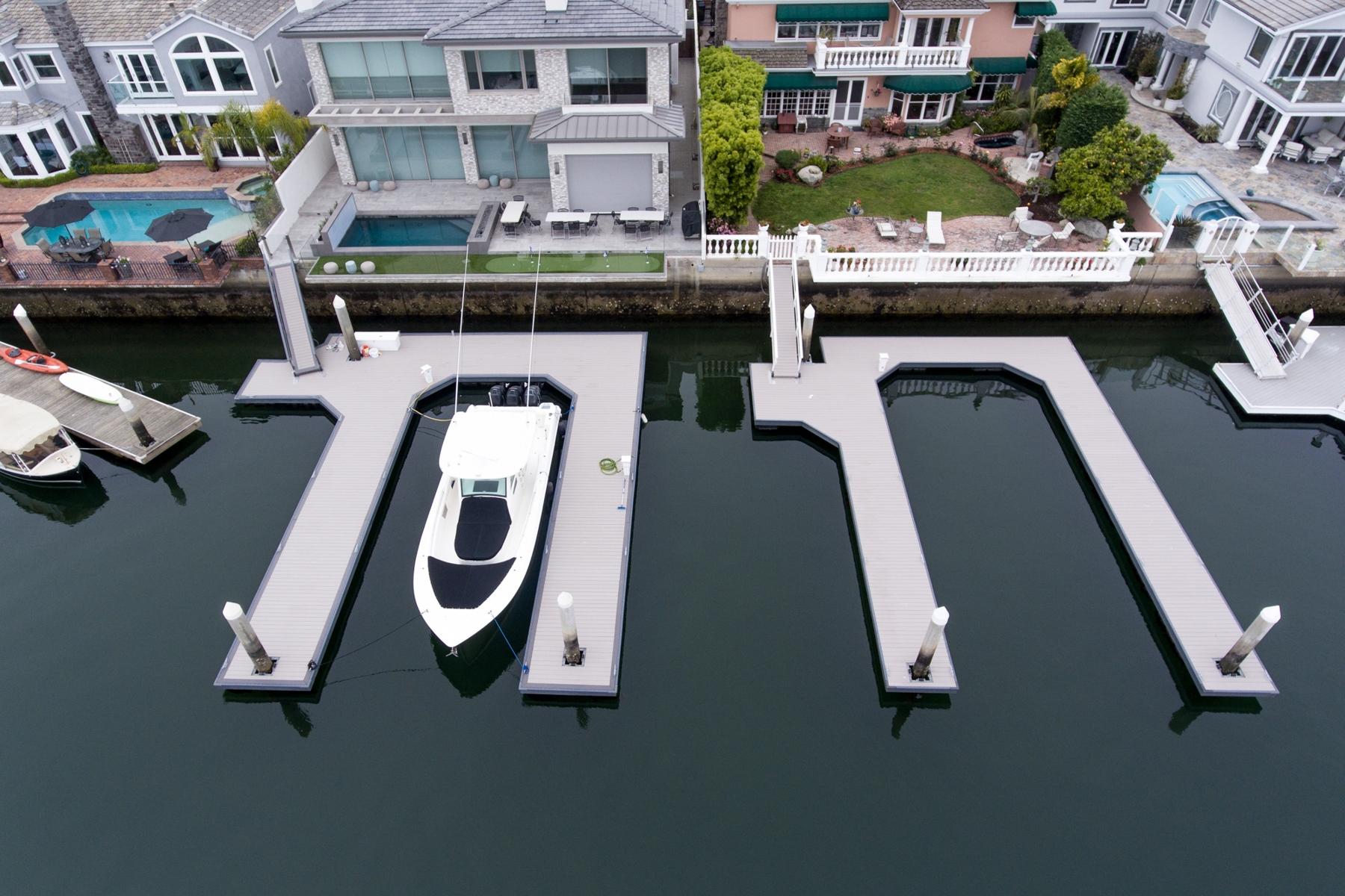Completed U-Shape Dock, Huntington Harbour, CA