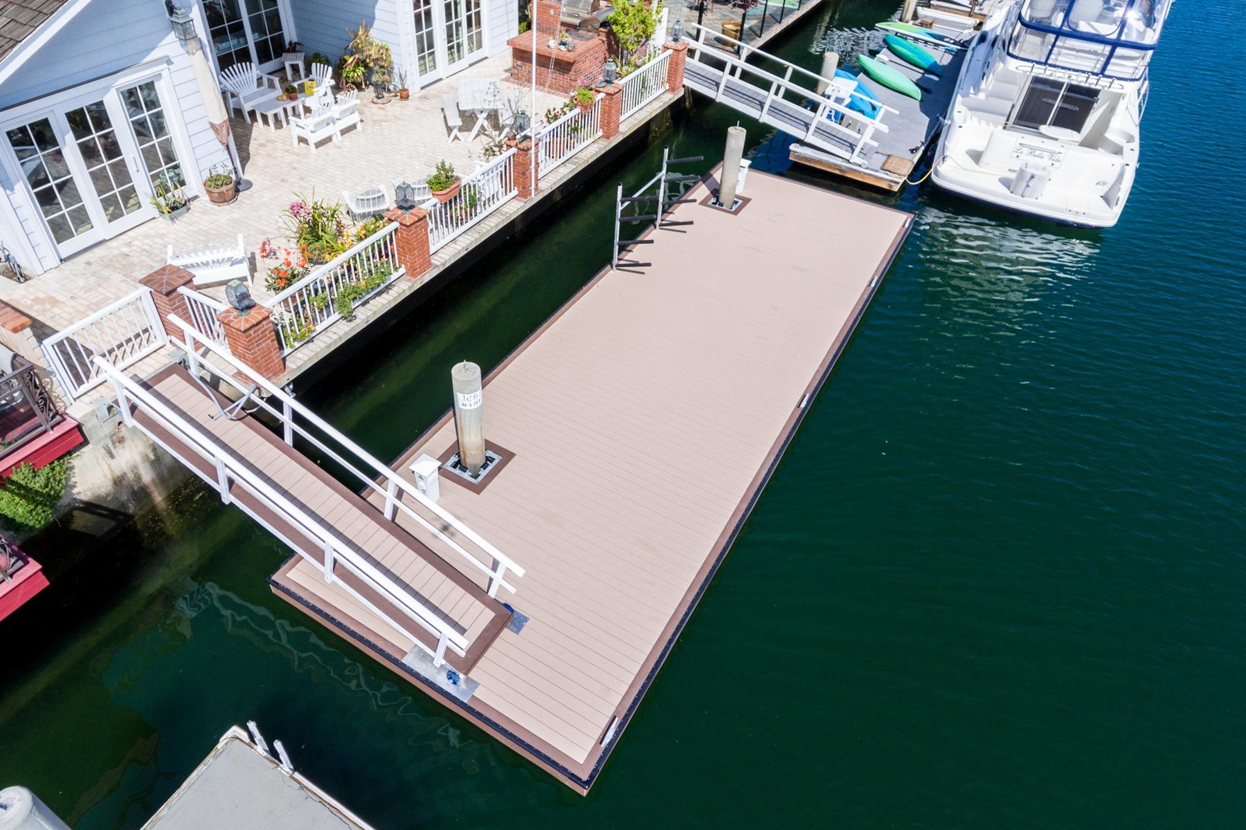 Completed Rectangular Dock, Huntington Harbour, CA