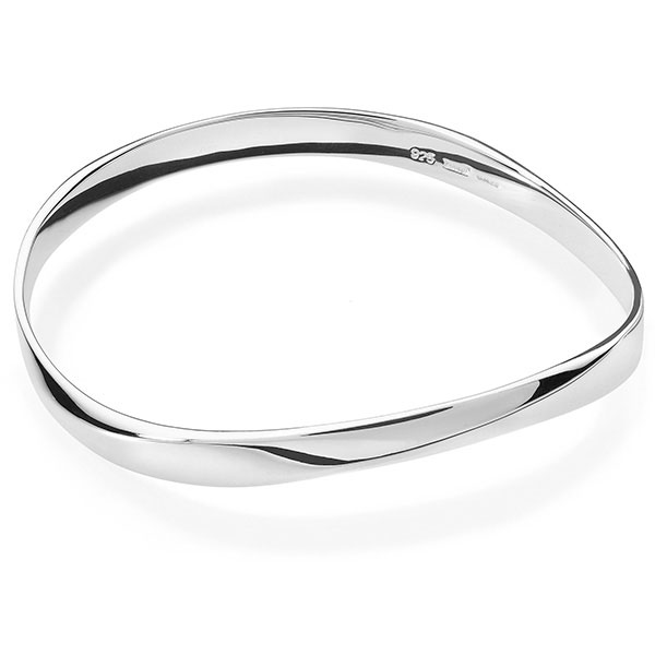Silver mobius polish bangle