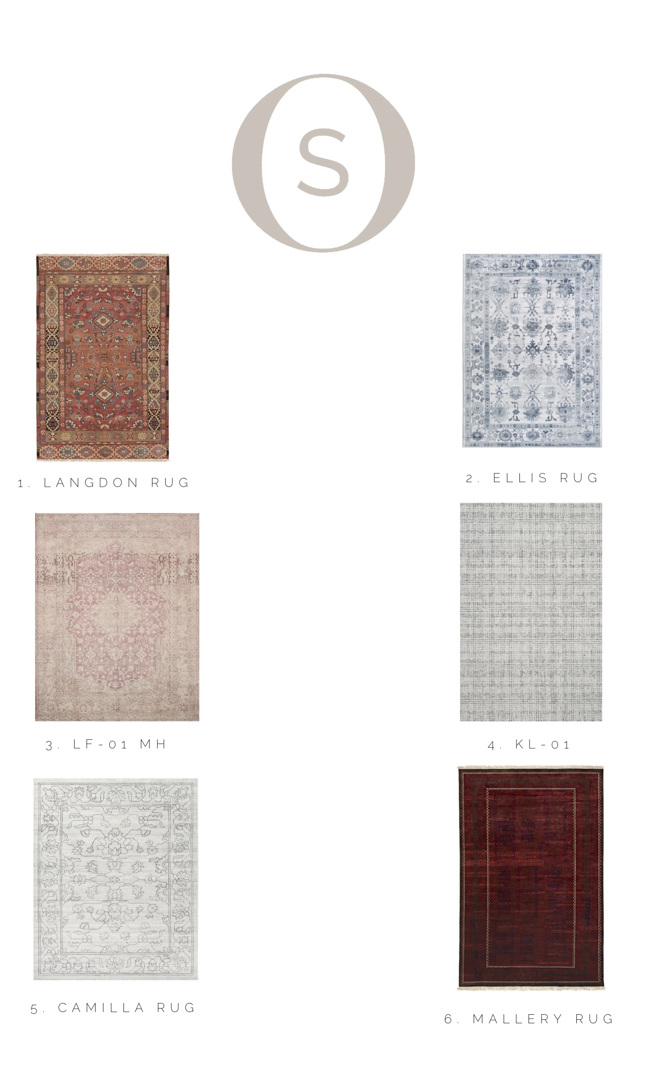 Top 6 area rugs